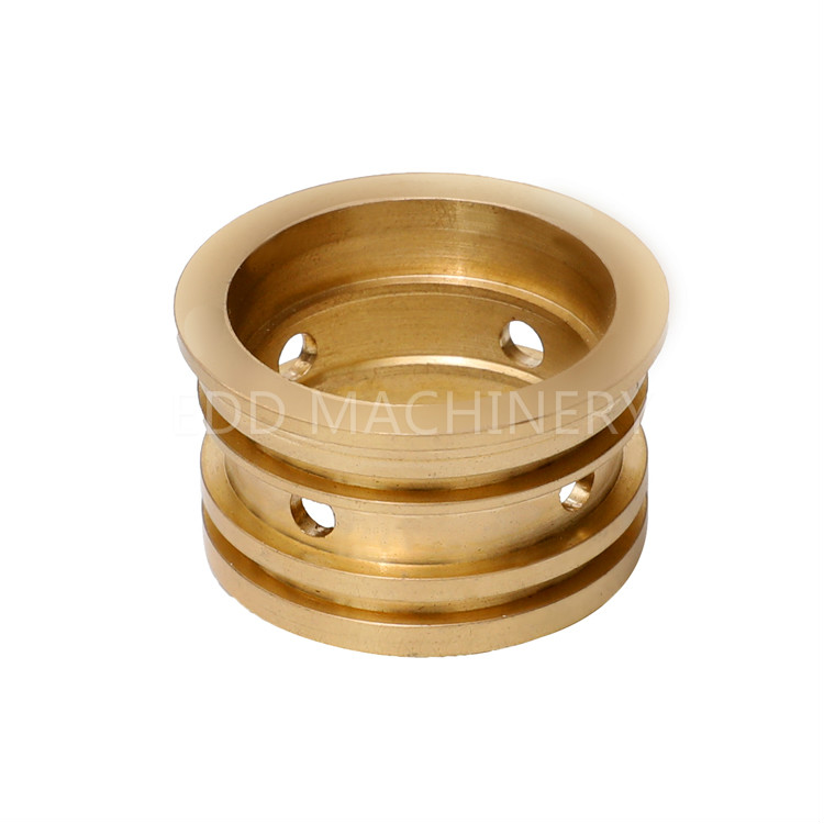 CNC milling threaded flange brass bushing