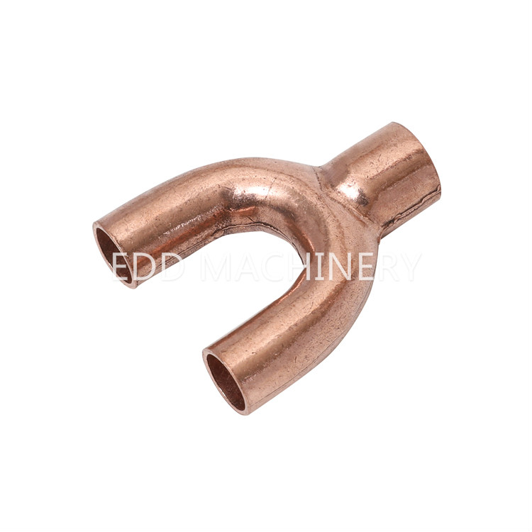 Y type copper pipe fittings