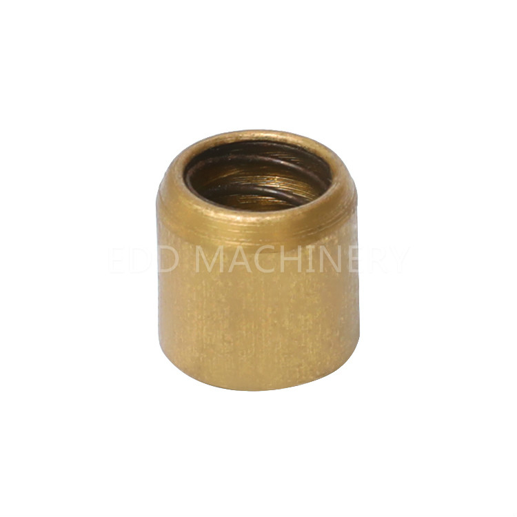 Self-lubricating industrial brass bushing